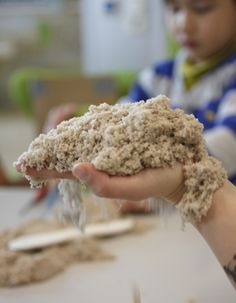 Kinetic Sand is WABA Fun's first product that breathes motion. Easy-to-shape sand that molds into simple desktop designs. Playing with Kinetic Sand is a magical and mesmerizing experience, giving a moment of relaxation for both young and old. Masa Slime, Clay Crafts For Kids, Messy Play, Hobbies And Interests, Sensory Toys, Fine Motor, Cool Toys, Amazing, Food