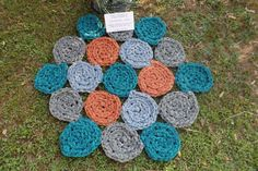 Hand made crochet carpet with crochet number 20