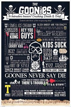 The Goonies - Typographic - Official Poster