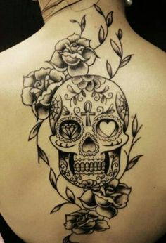 Absolutely love this! Two of my favorite things combined. Ink and sugar skulls