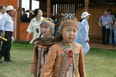 Sakha-Yakut girls in traditional dress.