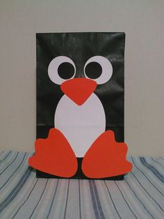 Penguin favor bag.