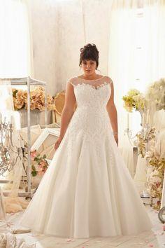 Wishesbridal Plus Size Bridal Wedding Gown