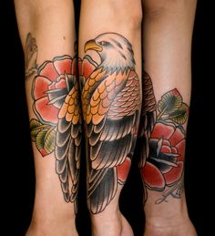 I really like the eagle and the flower encircled on the arm.