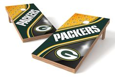 Green Bay Packers Cornhole Board Set - Swirl (w/Bluetooth Speakers)