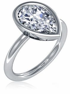 Bezellia 3 Carat Pear Cubic Zirconia Bezel Set Solitaire Engagement Ring available in 14k gold, 18k gold and platinum by Ziamond. #ziamond #cubiczirconia #pear #bezel #solitaire #engagement #ring Pear Shaped Engagement Rings, Antique Engagement Rings, Solitaire Engagement, Jewelry Shop, Jewelry Gifts, Holiday Jewelry, Jewellery, Pear Shaped Diamond, Pear Diamond