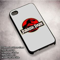 Jurassic Park Logo - For iPhone 4/ 4S/ 5/ 5S/ 5SE/ 5C/ 6/ 6S/ 6 PLUS/ 6S PLUS/ 7/ 7 PLUS Case And Samsung Galaxy Case
