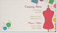 dress form sew Standard Business Cards
