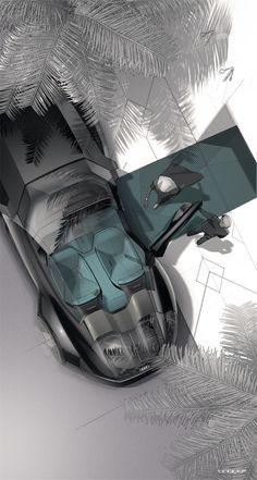 Industrial Design Trends, Jobs and Online Courses - leManoosh Car Interior Sketch, Car Design Sketch, Interior Design, Audi Design, High Performance Cars, Gt Cars, Automotive Art, Pebble Beach, Concept Cars