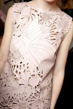 Backstage at Giles Spring 2015