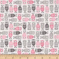 Kaufman Urban Zoologie Mini Owls Pink