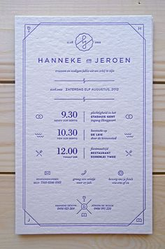 Elegant and contemporary invitation //