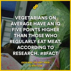 Vegetarians on average have an IQ five points higher than those who regularly eat meat, according to research.