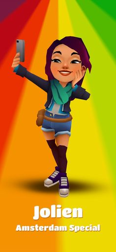 Subway Surfers dans l'App Store Ipod Touch, Subway Surfers, Girls Characters, Cool, Amsterdam, Ted, Surfing, Animation, People