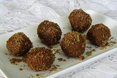 Peppermint Crisp truffles (South African)