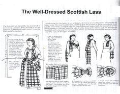 Arisaidh - traditional Scottish woman's costume