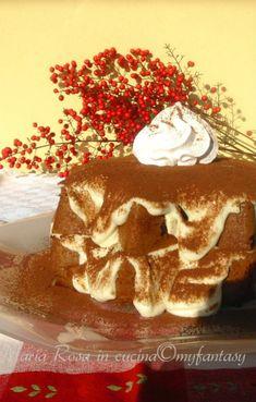 PANDORO ALLA CREMA DI MASCARPONE, come riciclare un pandoro Tiramisu, Panna Cotta, Pandora, Cake, Ethnic Recipes, Desserts, Christmas, Food, Cream