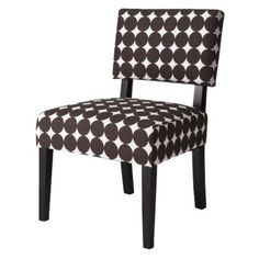 Mitchell Armeless Chair - Brown Dots $78