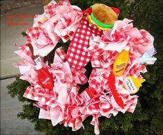 Make a Paper Napkin Picnic Wreath