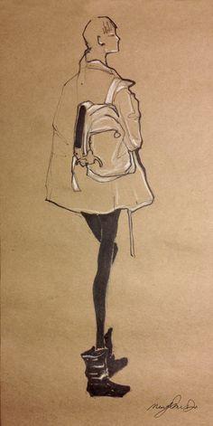 Fashion Illustrator Mengjie Di: Sketches