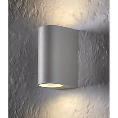 LAP Duran Matt Grey LED Up & Down Wall Light 2 x 3.5W | LED Wall Lights | Screwfix.com