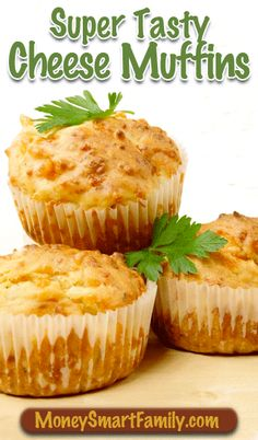 Delicious Super Tasty Cheese muffins are a addition to any soup meal or as a snack for your kids. Whenever we serve these muffins they fly off the table—they're simply that yummy of a recipe! Muffin Tin Recipes, Quick Bread Recipes, Cooking Recipes, Savory Muffins, Cheese Muffins, Breakfast Muffins, Empanadas, Scones, Cranberry Bread