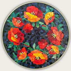 POPPIES - 15.25 INCH DIAMETER, UNGROUTED