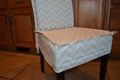DIY slipcover for Parsons chair