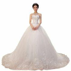 Dearta Women's Ball Gown Sweetheart Chapel TrainTulle Wedding Dresses