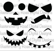 Halloween SVG, Pumpkin Bundle, 4 SVG files, SVG design, cut files, silhouette…