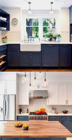 Kitchen Remodel Ideas 25 Gorgeous Paint Colors for Kitchen Cabinets (and beyond) - A Piece Of Rainbow - Transform your kitchen easily with 25 beautiful kitchen cabinet colors and favorite designer kitchen paint color combos from farmhouse to modern glam! New Kitchen Cabinets, Kitchen Redo, Kitchen Ideas, White Cabinets, Kitchen Backsplash, Backsplash Ideas, Wood Cabinets, Kitchen Themes, Kitchen Inspiration