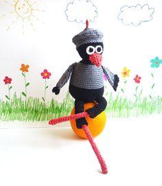 Crochet Crow Charlie 1pc Amigurumi by MonikaDesign on Etsy, $47.00