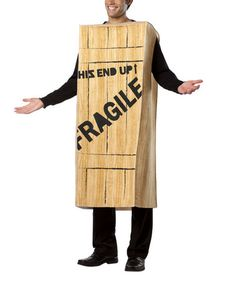 Look at this #zulilyfind! 'Fragile' Wooden Crate Christmas Story Costume - Adult #zulilyfinds $64.36