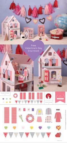 Lille Huset free Valentine's Day Download // decorate your Lille Huset for the sweetest day of the year!