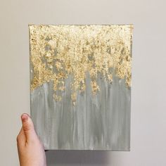 A personal favorite from my Etsy shop https://www.etsy.com/listing/245879989/gold-leaf-painting-abstract-gold-leaf