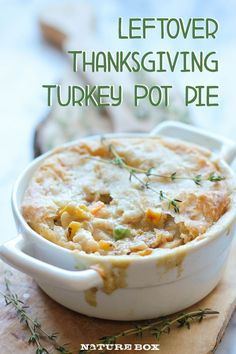 If you've got extra turkey meat from Thanksgiving, dont let it go to waste! Why not use it for this Hearty Leftover Turkey Pot Pie? This easy pot pie recipe gives you that same great Thanksgiving turkey taste, but in a totally different form. Thanksgiving Leftover Recipes, Leftover Turkey Recipes, Thanksgiving Leftovers, Leftovers Recipes, Turkey Leftovers, Thanksgiving Celebration, Turkey Dishes, Thanksgiving Food, Turkey Pie