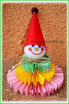 Diy Paper, Paper Crafts, Clown Crafts, Party Props, Painting For Kids, Spring Crafts, Diy Cards, Diy For Kids, Quilling