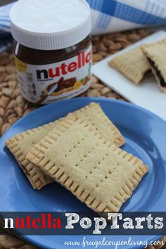 Easy to make Nutella Recipe - we love this homemade pop tart recipe. Serve for breakfast or as a dessert. Don't let the look intimidate you, they are easy! Recipe on Frugal Coupon Living.