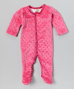 This My Blankee Raspberry Velour Footie by My Blankee is perfect! #zulilyfinds