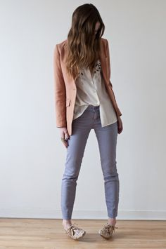 Vintage shirt. Gap jeans. H&M blazer and necklace. Forever21 loafers.