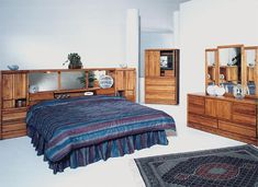 "Pier Bed Wall King Size | La Jolla 52"" Wall Unit or with Waterbed - Cal King, California King ..."
