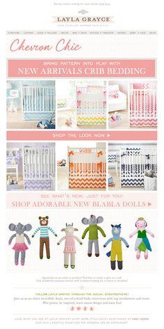 Bright bedding for the nursery + new @Blabla Kids! @LaylaGrayce #laylagrayce #chevron #baby #newsletter