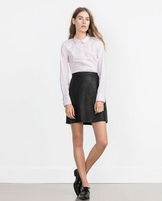 ZARA - WOMAN - BASIC POPLIN SHIRT