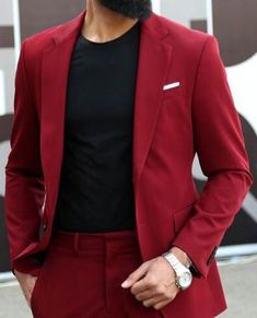 2020 Custom Made Men Suit For Wedding Casual Summer Suits Slim Fit 2 Piece (Jacket+Pant) High Quality Male Business Suit Blazer Mens Red Suit, Mens Suit Vest, Mens Suits, Red Suits For Men, Maroon Suit, Burgundy Suit, Latest Mens Fashion, Mens Fashion Suits, Sticker Printable