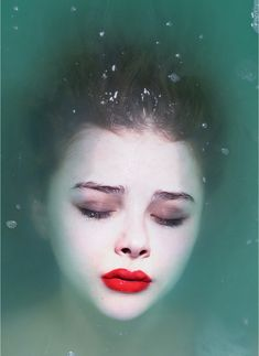 Drowning. Chloe Moretz photographed by Mert and Marcus