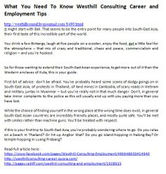 Read full article here:  https://www.facebook.com/pages/Westhill-Consulting-Employment/496648630414940 http://westhillconsulting-career.quora.com/ http://pages.rediff.com/westhill-consulting-and-employment/1928915