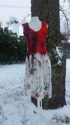 Nunofelted dress