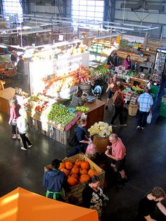 Halifax Seaport Farmers Market  Open throughout the week, the market is a very popular spot to pick up fresh baked goods, herbs, produce, grab a coffee, have a wonderful snack, and to buy crafts and works from artisans http://wwww.mervedinger.com