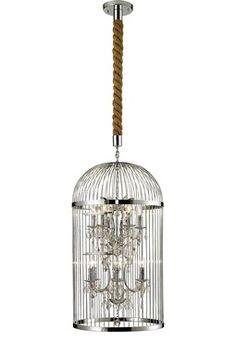 Vintage Large Bird Cage Chandelier