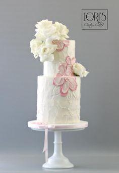 Bridal shower buttercream cakes  by Lori Mahoney (Lori's Custom Cakes)